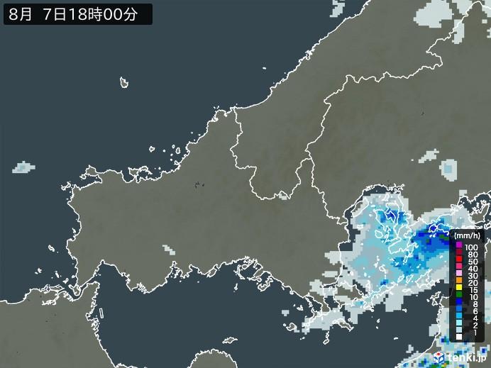 山口県の雨雲レーダー(予報)