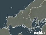 山口県の雨雲の動き(予報)
