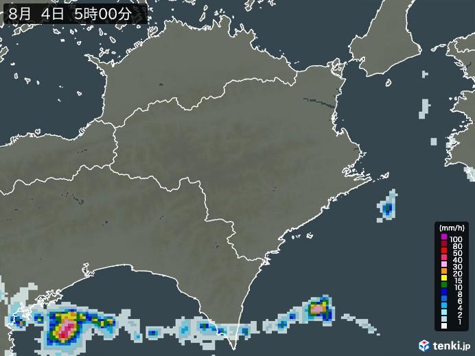 徳島県の雨雲の動き(予報)