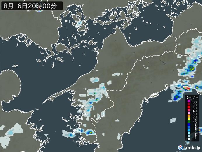 愛媛県の雨雲レーダー(予報)