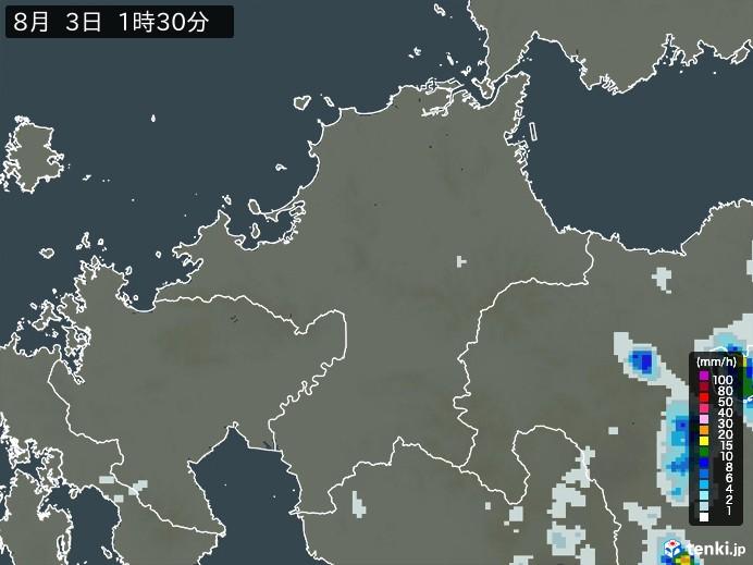 福岡県の雨雲の動き(予報)