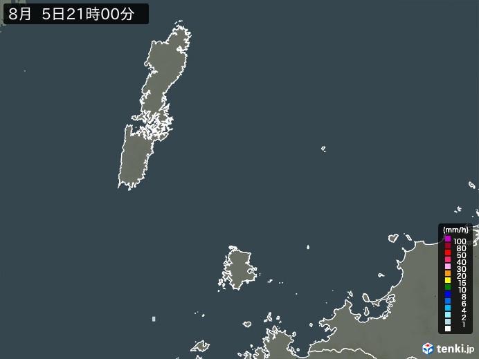 壱岐・対馬(長崎県)の雨雲の動き(予報)