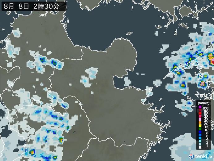 大分県の雨雲の動き(予報)