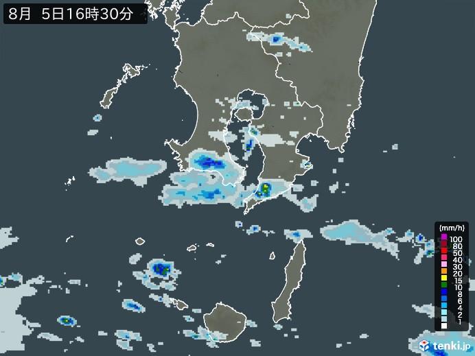 鹿児島県の雨雲レーダー(予報)