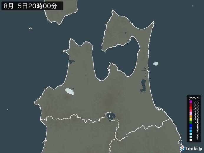 青森県の雨雲の動き(予報)