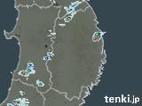 岩手県の雨雲の動き(予報)