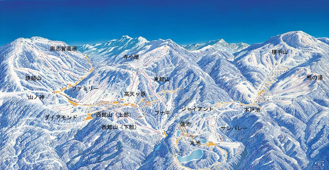 志賀高原 焼額山 スキー場コース画像
