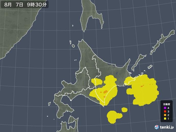 北海道地方の雷レーダー(予報)
