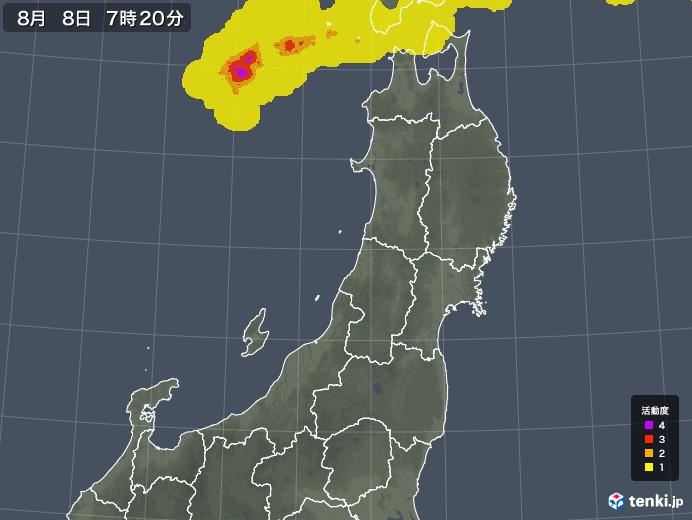 東北地方の雷レーダー(予報)
