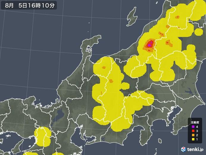 北陸地方の雷レーダー(予報)