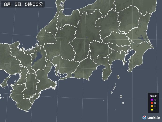 東海地方の雷レーダー(予報)