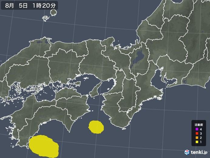 近畿地方の雷レーダー(予報)