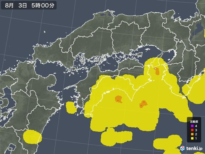 四国地方の雷レーダー(予報)