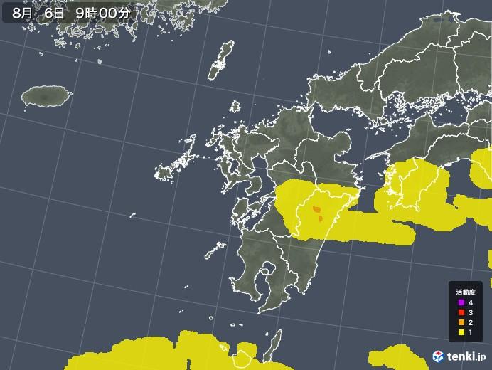 九州地方の雷レーダー(予報)