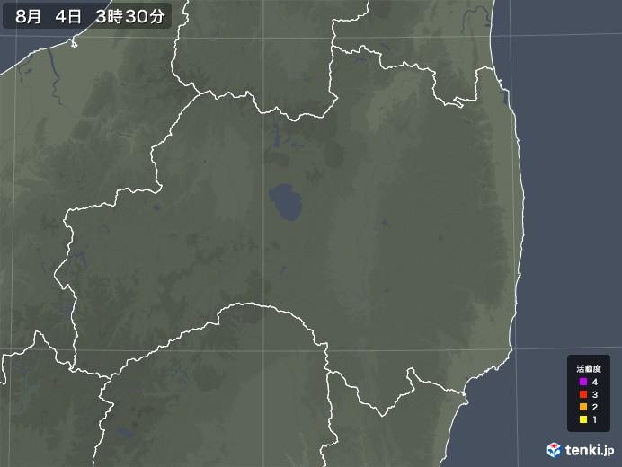 福島県の雷レーダー(予報)