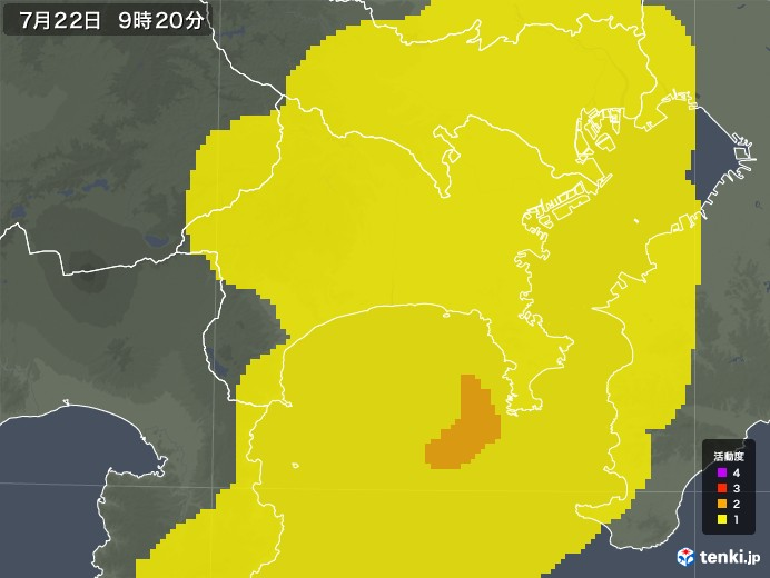 神奈川県の雷レーダー(予報)