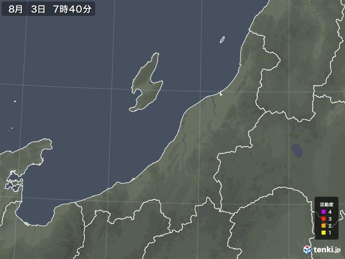 新潟県の雷レーダー(予報)