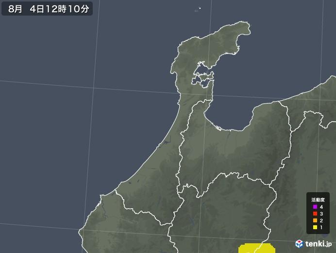 石川県の雷レーダー(予報)