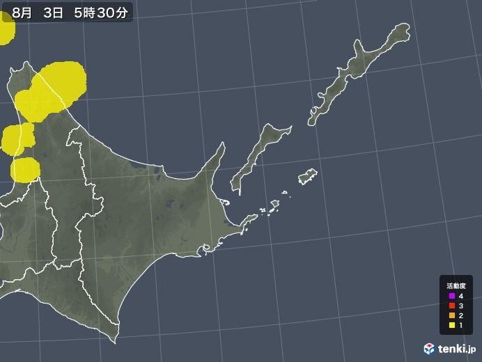 道東の雷レーダー(予報)