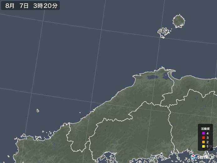 島根県の雷レーダー(予報)