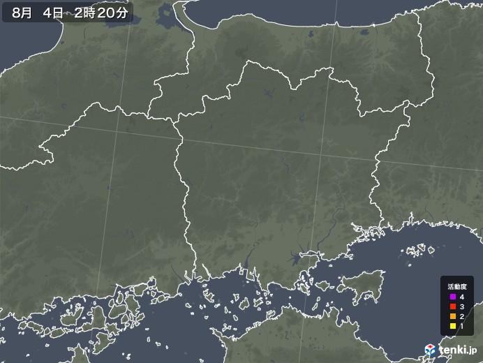 岡山県の雷レーダー(予報)