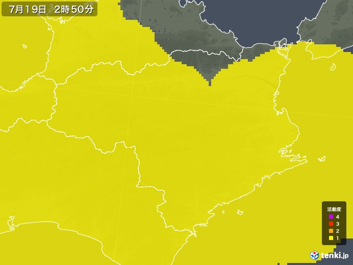 徳島県の雷レーダー(予報)