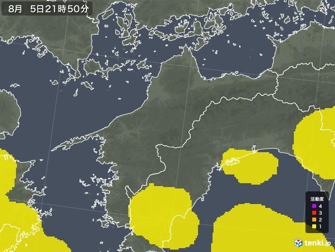愛媛県の雷レーダー(予報)