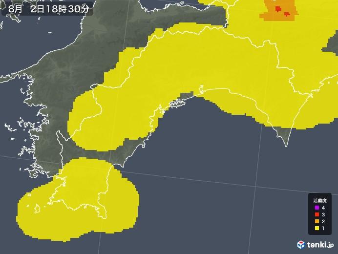 高知県の雷レーダー(予報)