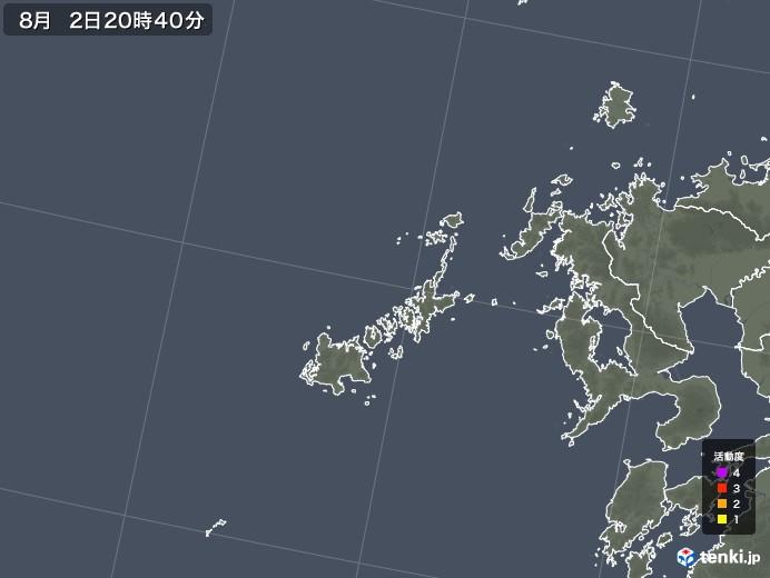 五島列島(長崎県)の雷レーダー(予報)