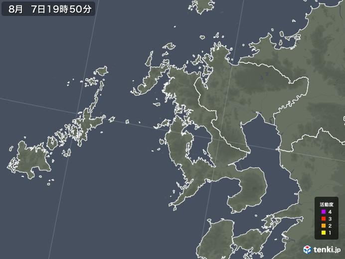長崎県の雷レーダー(予報)