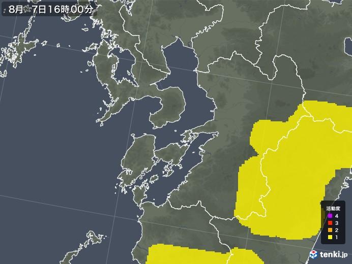 熊本県の雷レーダー(予報)