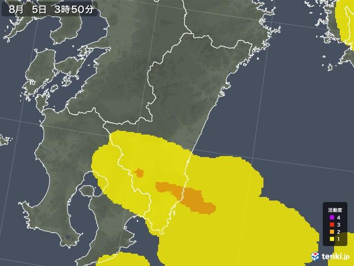 宮崎県の雷レーダー(予報)