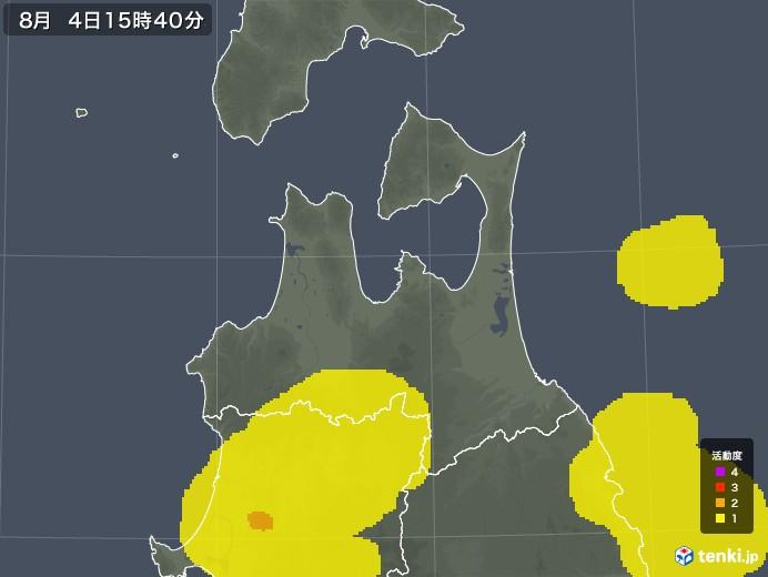 青森県の雷レーダー(予報)