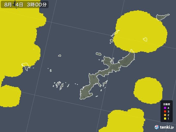 沖縄県の雷レーダー(予報)