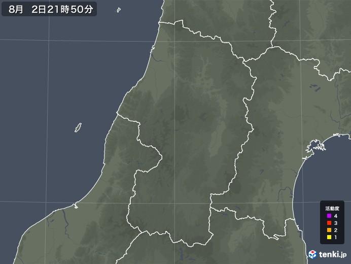 山形県の雷レーダー(予報)