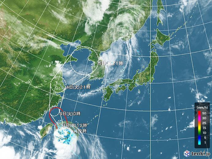 台風情報・日本広域(2020年08月03日02時現在)