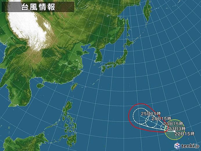 台風情報・日本広域(2018年10月22日15時現在)