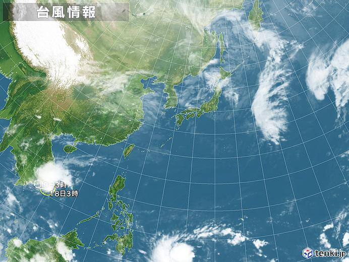 台風情報・日本広域(2018年11月18日03時現在)