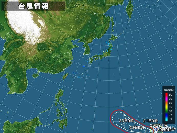 台風情報・日本広域(2019年02月20日09時現在)