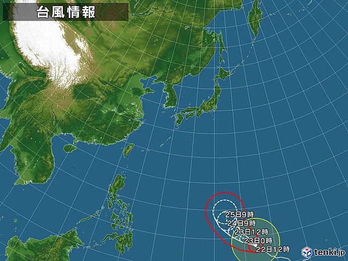 台風情報・日本広域(2019年02月22日12時現在)