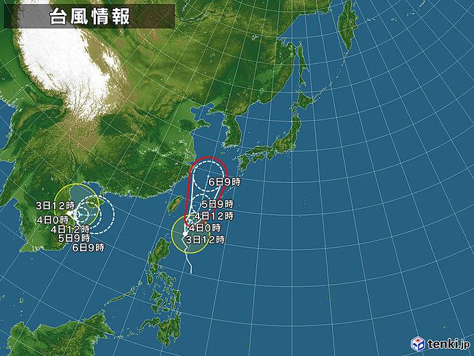 台風情報・日本広域(2019年09月03日12時現在)