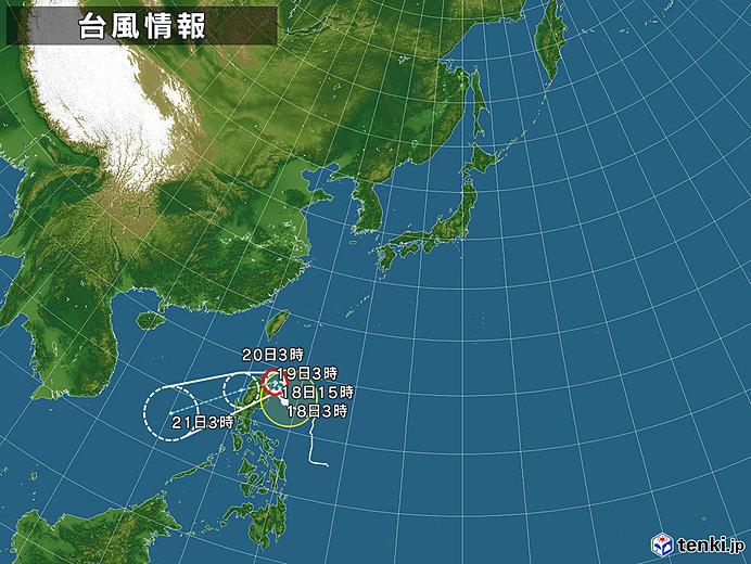 台風情報・日本広域(2019年11月18日03時現在)