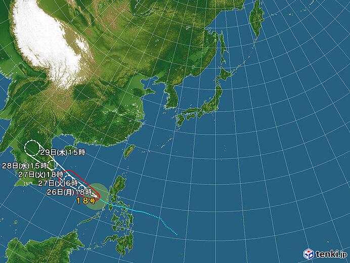 台風情報・日本広域(2020年10月26日18時現在)