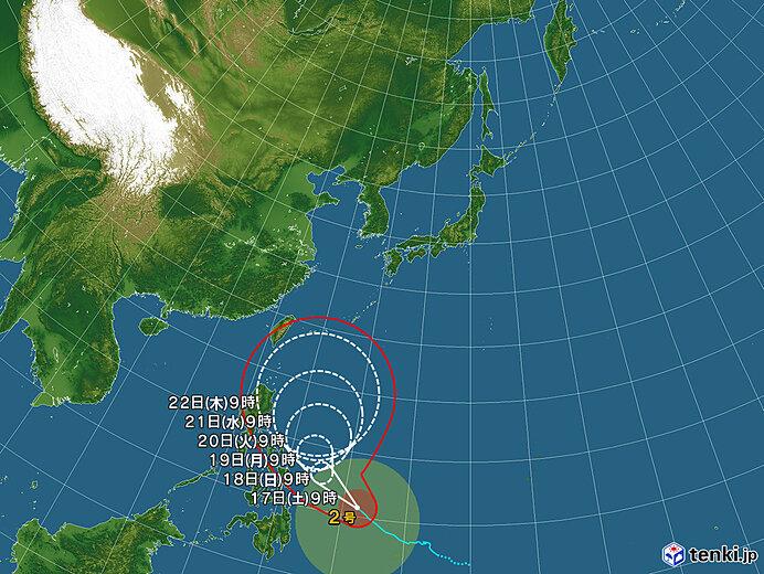 台風情報・日本広域(2021年04月17日09時現在)