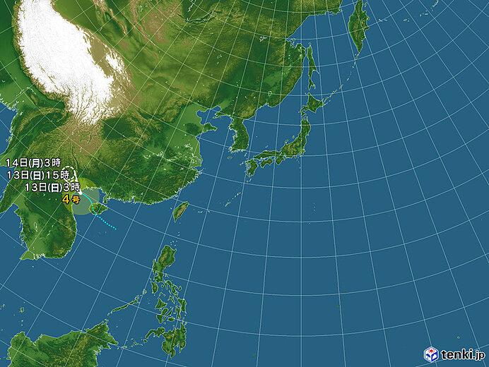 台風情報・日本広域(2021年06月13日03時現在)