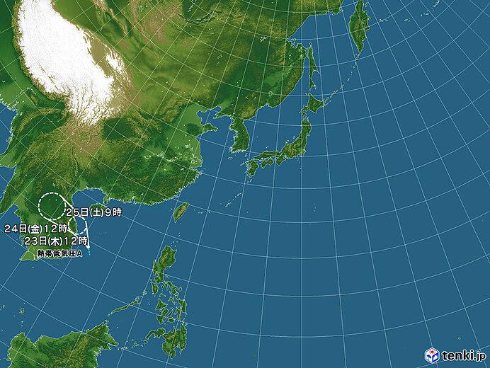 台風情報・日本広域(2021年09月23日12時現在)