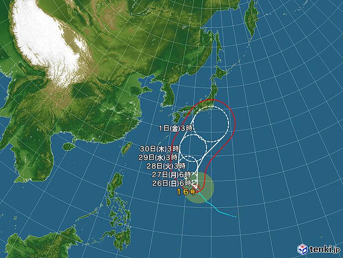 台風情報・日本広域(2021年09月26日06時現在)