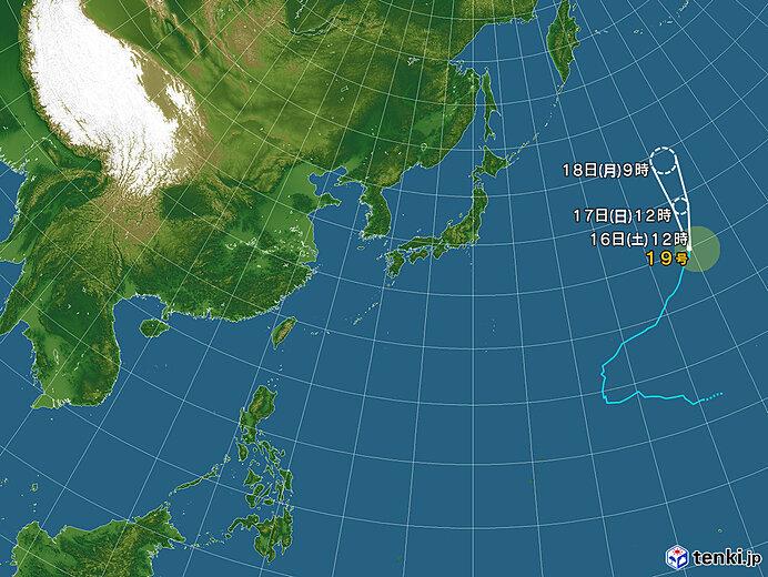 台風情報・日本広域(2021年10月16日12時現在)