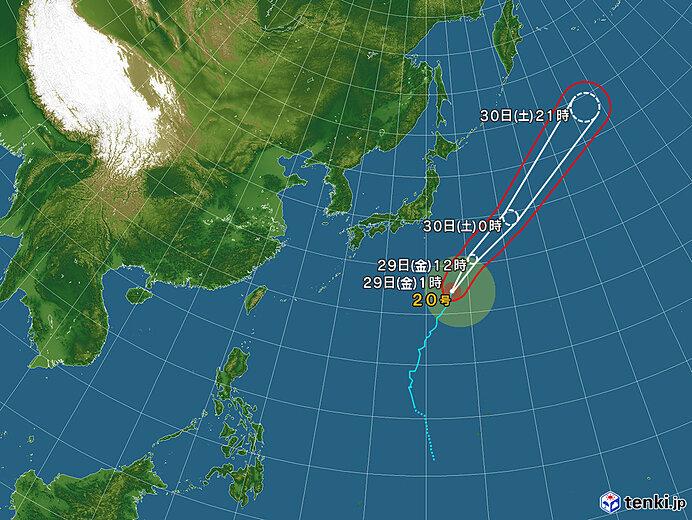 台風情報・日本広域(2021年10月29日 01時現在)
