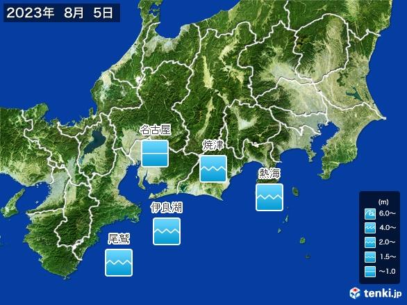 東海地方の海の天気